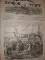 Prince Edward declares Alexandra Dock King's Lynn open 1869 old print