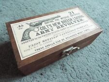 Empty Wooden Colt .45 Cal Cartridge Box