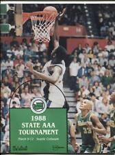 High School Basketball Program Washington Prep WIAA 1988 State AAA HTF Redmond