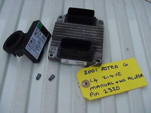 VAUXHALL ASTRA 1.4 ECU SET DHZJ 09353459 + PIN CODE OPEL Z14XE 16v HSFI 2.1
