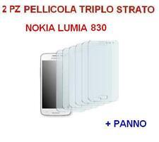 2x PELLICOLA PER NOKIA LUMIA 830 N830 PROTEGGI DISPLAY  triplo strato