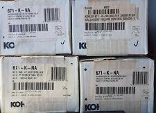 KOHLER K-671-K-NA 3/4-Inch Volume Control - LOT OF 4