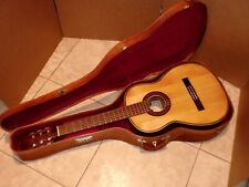 VINTAGE CANTALICIO SANABRIA CLASSICAL GUITAR MADE IN PARAGUAY & LEATHER CASE