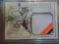 2014 PANINI NATIONAL TREASURES JOHN ABRAHAM CARD #CPB-JA   25/50 COLOSSAL JERSEY
