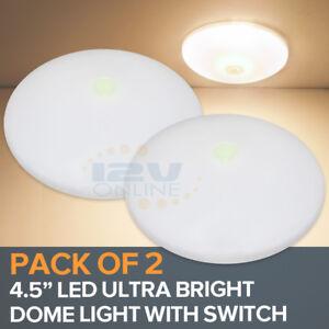 "RV Lights 12V LED Ceiling Lighting Under Cabinet Lamp with Switch 3500K,4.5"""