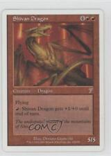 2001 Magic: The Gathering - Core Set: 7th Edition #218 Shivan Dragon Card n5i