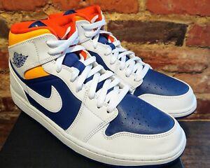 Air Jordan 1 Mid Royal Blue Laser Orange 554724-131 New W/Box Men Size 11 DS 🔥