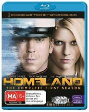 Homeland : Season 1 - (3-Disc Set) - NEW - Blu-Ray - Region B