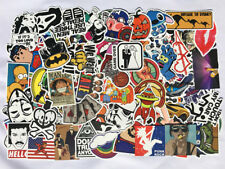 Pack of 100, 200, 300, 500 Random Skateboard Notebook Laptop Vinyl Sticker