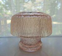 Tiara Indiana Glass Pink Crystal Ice Mystique Mushroom Lamp Candle Holder