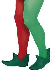 Navidad Santa Papá Noel elfo verde Botas con cascabel sobre los pies Smiffys