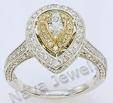 1.24 Ct TW Pear Shape Diamond Engagement Ring Solitaire