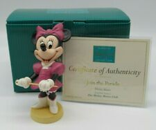 """WDCC """"Join the Parade"""" Minnie Mouse from Disney's Mickey Mouse Club in Box COA"""