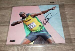 Usain Bolt Signed 8x10 Photo COA Olympics