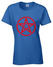 Pentáculo Camiseta para Mujer S-5XL Rock Gótico Punk Metálicas Motero Satanic