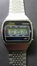 vintage retro rare Limit Commando LCD watch