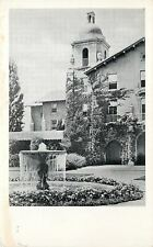 Stanford University California~Stanford Union Fountain~1930s B&W Postcard