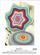 STYLECRAFT CLASSIQUE COTTON DOUBLE KNITTING,STAR & ROUND CUSHION CROCHET PATTERN