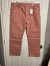 Levis 501 Shrink To Fit Straight Leg Button Fly Pink Denim Jeans Mens Sz 42x32