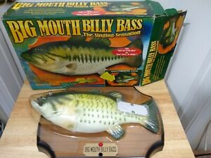 Vintage Big Mouth Billy Bass The Singing Sensation Motion Activated 1998 in BOX