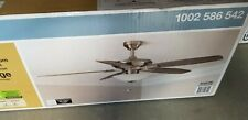 "Hampton Bay Menage 52"" Integrated LED Indoor Low Profile Brushed Nickel Ceiling"