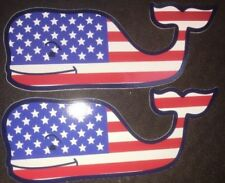 New Vineyard Vines Lot Of 2 Whale American Flag Stickers/Decals
