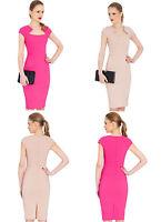 City Goddess Short Sleeve Midi Dress in Great Colours