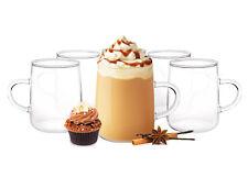 6 Kaffeegläser 250ml mit Henkel Borosilikat Teegläser Cappuccinogläser Teeglas