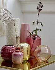Vase rot Glas Höhe 14 cm Retro Nordic Skandinavisch von Bloomingville