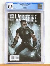 WOLVERINE WEAPON X #4 : CGC 9.4 NM : 2009 Marvel, Adi Granov variant cover HTF 1