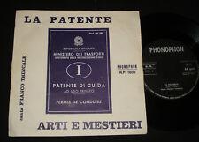 FRANCO TRINCALE   P/S 45 - LA PATENTE   - ITALIAN  1960s