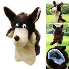 Plush Wolf Hand Puppet Baby Kid Child Soft Doll Sleep Story Educational Toy Gift