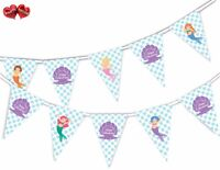 Lovely Mermaid Happy Birthday Shell Bunting Banner 15 flags by PARTY DECOR