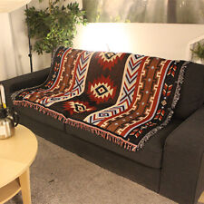 Aztec Navajo Towel Mat Wall Hanging Cotton Throw Rug Geometry Woven 130x160cm