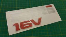 Vauxhall Astra Nova Cavalier SRI 16v rear decal sticker Corsa B C Opel red top