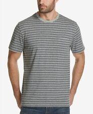 Hombre Resistente a la Intemperie Vintage Bolsillo en Pecho Rayas Gris Camiseta