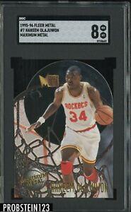 1995-96 Fleer Metal Maximum Metal #7 Hakeem Olajuwon Rockets HOF SGC 8