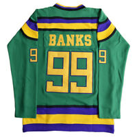 The Mighty Ducks Jersey #99 Adam Banks Men's Hockey Jerseys Stitched Green