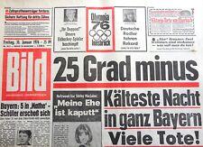 """Kult-Zeitschrift BILD ZEITUNG, 30.1.1976, Artur """"Atze"""" Brauner; Shirley MacLaine"""