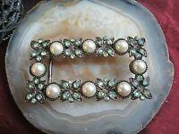 dekorative gürtelschnalle mit perlen und steinchen 80er