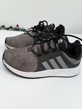 Boys Jnr Adidas Grey Speckle Print Trainers Lace Ups Size 3 Ortholite