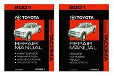 Bishko OEM Repair Maintenance Shop Manual Bound for Toyota Tacoma 2001