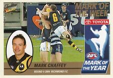 Select 2005 Tradition MARK CHAFFEY Richmond Tigers Mark of the Year card