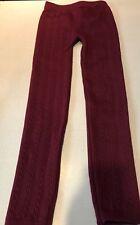 Capelli Kids Polyester/Spendex fleece lined Leggings S/M Red/Maroon