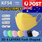 50/100PCS 4-Layer KF94 Face Mask Disposable Mouth Filter Protective Cover Adult