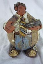 Accountant Pottery Ceramic Sculpture - Sara Meadows Balloon People VTG 1985