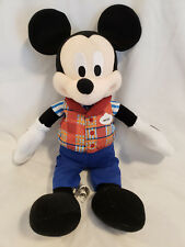 Disney Parks Tour Guide Mickey Mouse Plush Doll Toy 11""