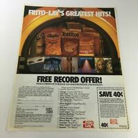 VTG Retro 1985 Frito Lay Corn Regular Size Chips FREE Record Print Ad Coupon