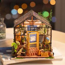 Rolife Diy Miniature Flower House Kits Dollhouse 1:24 Modern Crafts Home Decor