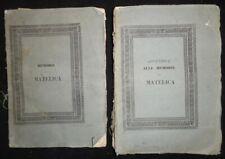 Memorie di Matelica raccolte ed ordinate dall'arciprete Camillo Acquacotta 1838